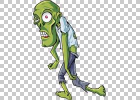 Zombie Halloween Jiangshi,绿色僵尸PNG剪贴画脊椎动物,生日快乐
