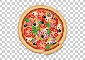 Pizza Sausage Salami意大利菜火腿和奶酪三明治,培根披萨PNG剪贴