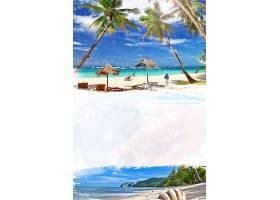夏天海滩背景图片