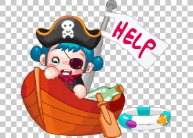 海盗卡通船,小海盗PNG剪贴画儿童,食品,摄影,人民,虚构人物,royal