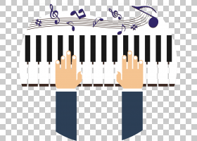 钢琴音乐键盘,钢琴PNG剪贴画家具,手,生日快乐矢量图像,钢琴卡通,