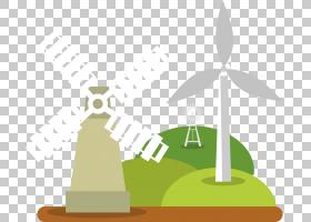 风力能源绘图Dessin animxe9,风力发电设备PNG剪贴画环保,卡通,一