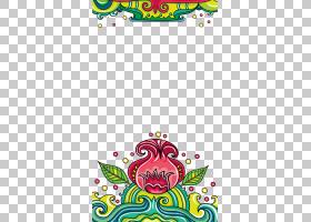 风浪,花卉波背景PNG剪贴画文本,花卉,底纹,生日快乐矢量图像,花卉