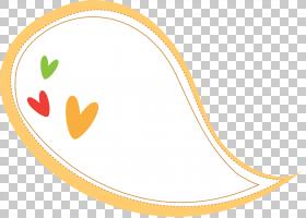 语音气球,黄色心形边框PNG剪贴画爱,框架,文本,心,心,卡通,材料,图片