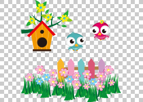鸟,可爱的鸟巢PNG剪贴画动物,叶,草,生日快乐矢量图像,飞行,花卉,