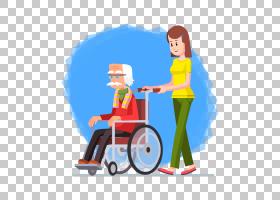 轮椅老年人图画,坐在轮椅PNG clipart的祖父生日快乐矢量图像,男