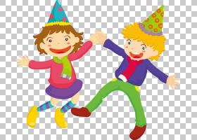 儿童股票Royalty-,手绘卡通儿童跳舞模式PNG剪贴画手,人民,蹒跚学