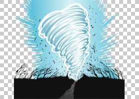 龙卷风风暴欧几里德,2017级台风天气元素材料PNG剪贴画电脑壁纸,