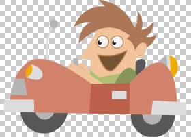 儿童车,驾驶孩子PNG剪贴画角度,驾驶,手,汽车,男孩,孩子们,卡通,