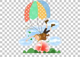 降落伞卡通,卡通PNG剪贴画卡通人物,儿童,云,卡通武器,海报,气球,