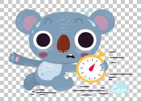 考拉熊卡通,考拉卡通闹钟模式PNG剪贴画卡通人物,哺乳动物,动物,图片