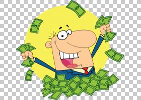 钱卡通版税,工资卡通的PNG剪贴画储蓄,食品,草,花卉,虚构人物,免图片