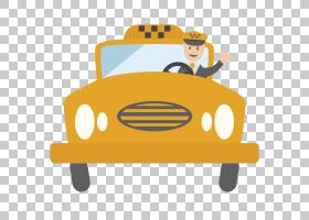 出租车,黄色出租车PNG剪贴画文本,黄色的花朵,生日快乐矢量图像,