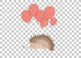 刺猬生日蛋糕卡通,用气球飞刺猬PNG剪贴画哺乳动物,动物,心,海报,