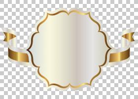 功能区,白色标签与金色彩带,白色和金色彩带PNG剪贴画徽标,出版,