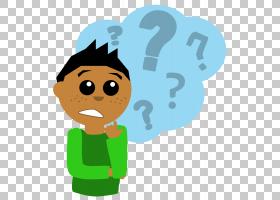 问号儿童内容,思考的PNG剪贴画孩子,手,男孩,版权,卡通,虚构人物,