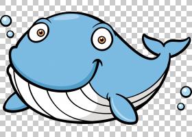 蓝鲸,卡通鲸PNG剪贴画卡通人物,蓝色,海洋哺乳动物,动物,鲸鱼矢量图片