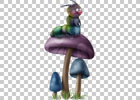 蘑菇,蘑菇毛虫PNG剪贴画紫色,3D计算机图形学,动物,蘑菇卡通,脊椎