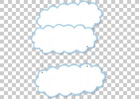 页面布局,蓝色边框卡通云,白色和蓝色的云墙装饰PNG剪贴画边框,卡