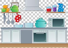 厨房内容,厨房用具PNG剪贴画杂项,家具,厨房用具,房间,器具,卡通,