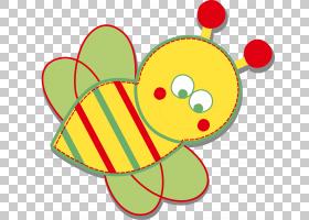 蜜蜂,可爱的小蜜蜂PNG剪贴画蜜蜂,简单,昆虫,生日快乐矢量图像,颜