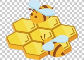 蜜蜂,金色蜂蜜PNG剪贴画角度,金色框架,生日快乐矢量图像,卡通,材