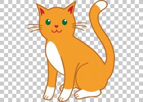 猫小猫内容,卡通猫PNG剪贴画哺乳动物,猫像哺乳动物,食肉动物,橙