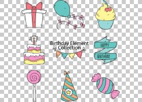 生日蛋糕派对,手,绘制卡通生日聚会PNG剪贴画假期,文本,手,祝你生