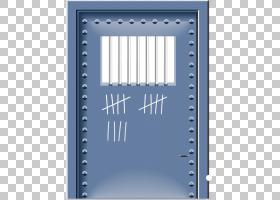 监狱牢房,铁门材料PNG剪贴画蓝色,角,文本,矩形,生日快乐矢量图像