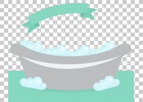 浴缸泡沫,简单和清新的浴缸PNG剪贴画家具,生日快乐矢量图像,卡通