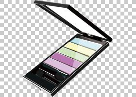 眼影化妆品眉,眼妆设计PNG剪贴画矩形,时尚,颜色,化妆刷,卡通眼睛