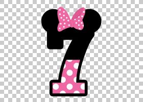 米妮米老鼠,5,米妮老鼠7号PNG剪贴画鼠标,卡通,数字,5,下载,绘图,