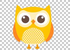 猫头鹰鸟卡通,可爱的猫头鹰PNG剪贴画动物,橙色,剪影,卡通网络,卡