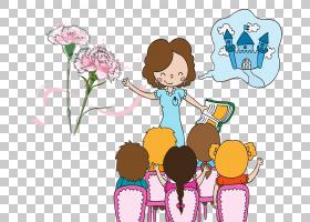教师节学校老师Alumnado教育,卡通老师和学生PNG剪贴画爱,卡通人