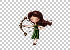 射手座黄道带占星占星术占星术,射手座PNG剪贴画爱,画,黑色头发,