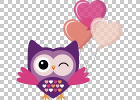 小猫头鹰鸟图画欧几里德,气球猫头鹰PNG剪贴画爱,紫色,动物,摄影,