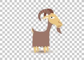 山羊,可爱的羊羔PNG剪贴画哺乳动物,牛山羊家庭,野生动物,卡通,封