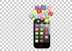 智能手机移动应用程序应用软件图标,手机功能标志PNG剪贴画小工具