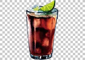 朗姆酒和可乐麦泰柠檬水,柠檬水PNG剪贴画鸡尾酒,生日快乐矢量图