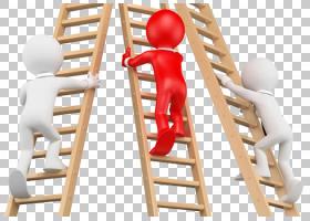 楼梯梯子,三个人爬楼梯PNG剪贴画家具,人,三维,卡通,封装PostScri