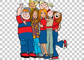 拥抱内容,A Group的PNG剪贴画人民,友谊,演示文稿,虚构人物,卡通,