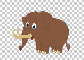 毛茸茸的猛犸象,可爱的大象PNG剪贴画哺乳动物,猫像哺乳动物,动物