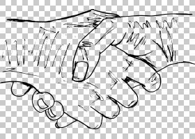 握手素描,握手PNG剪贴画角,白,哺乳动物,文字,摄影,手工,单色,头,
