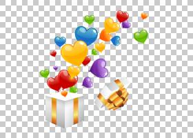 气球心礼物欧几里德,卡通爱情礼盒PNG剪贴画爱情,杂项,电脑壁纸,