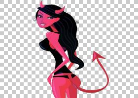 撒旦,女撒旦PNG剪贴画传奇生物,画,黑头发,手,生日快乐矢量图像,