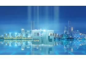 信息科技5G时代城市背景模板