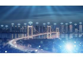 5G科技时代城市背景模板
