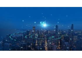 5G信息科技时代城市背景模板