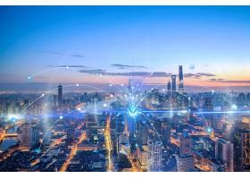 5G时代城市背景模板