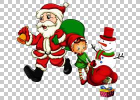 圣诞老人儿童圣诞节,圣诞老人和雪人PNG剪贴画孩子,假期,小精灵,